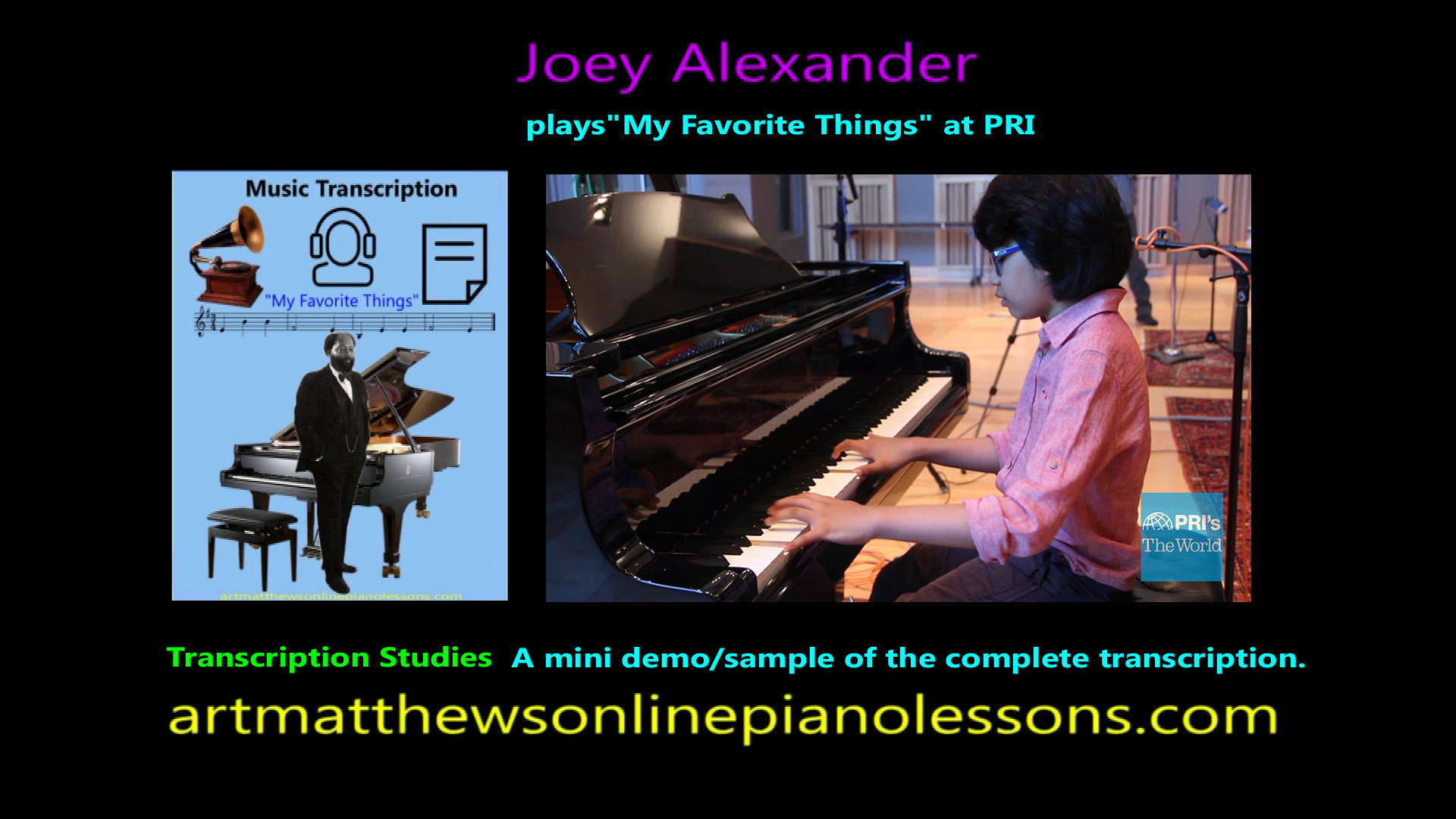 Joey Alexander 'My Favorite Things' on PRI The World