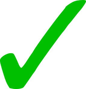 Professor Matthews' Green Checkmark